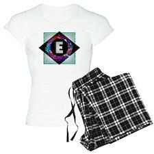 E - Letter E Monogram - Bla Pajamas