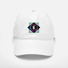 E - Letter E Monogram - Black Diamond E - Lett Baseball Baseball Cap