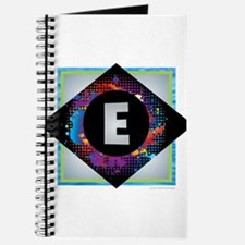 E - Letter E Monogram - Black Diamond E - Journal