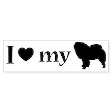 I love my chow chow Bumper Sticker