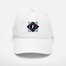 F - Letter F Monogram - Black Diamond F - Lett Baseball Baseball Cap