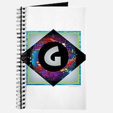 G - Letter G Monogram - Black Diamond G - Journal