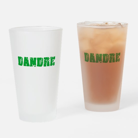 Dandre Name Weathered Green Design Drinking Glass