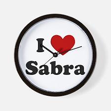 I Heart Sabra Wall Clock
