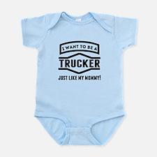 Trucker Just Like My Mommy Body Suit