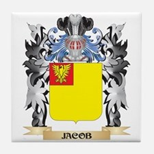 Jacob Coat of Arms - Family Crest Tile Coaster