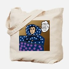 Insomnia Stick Figure Cartoon Tote Bag