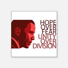 "Unique Obama hope Square Sticker 3"" x 3"""