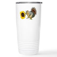 Squirrel Sunflower Travel Mug