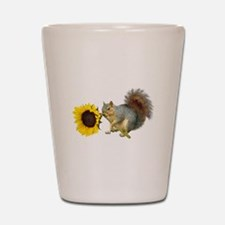 Squirrel Sunflower Shot Glass