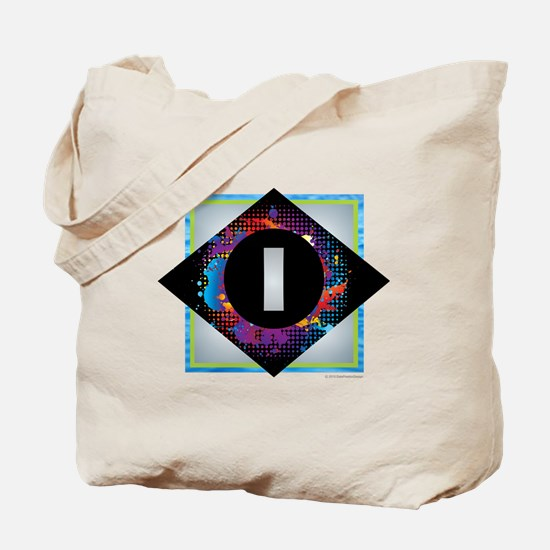 I - Letter I Monogram - Black Diamond I - Tote Bag