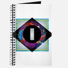 I - Letter I Monogram - Black Diamond I - Journal