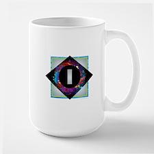 I - Letter I Monogram - Black Diamond I - Let Mugs
