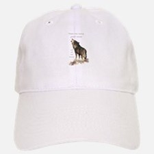 Many Great Voices Inspirational Wolf Quote Hat