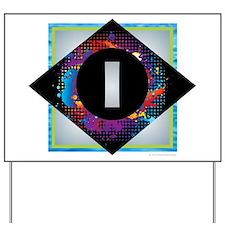 I - Letter I Monogram - Black Diamond I Yard Sign