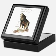 Many Great Voices Inspirational Wolf Keepsake Box