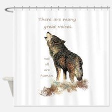 Many Great Voices Inspirational Wolf Quote Shower