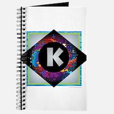 K - Letter K Monogram - Black Diamond K - Journal