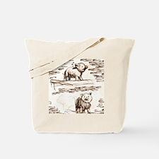 Piggy Bank Toile Tote Bag