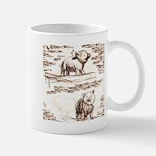 Piggy Bank Toile Mug