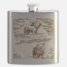 Piggy Bank Toile Flask
