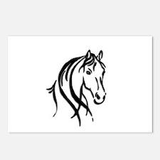 Black Horse Postcards (Package of 8)