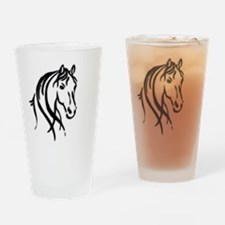Black Horse Drinking Glass