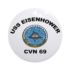 USS Eisenhower CVN 69 Ornament (Round)