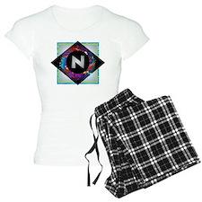 N - Letter N Monogram - Bla Pajamas