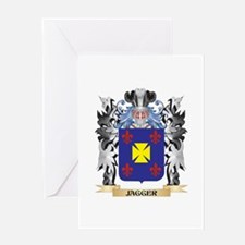 Jagger Coat of Arms - Family Crest Greeting Cards