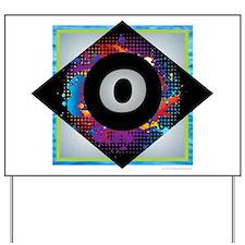 O - Letter O Monogram - Black Diamond O Yard Sign