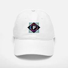 P - Letter P Monogram - Black Diamond P - Lett Baseball Baseball Cap