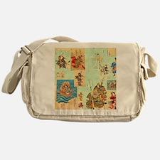 Japanese Samurai Warriors Medley Messenger Bag