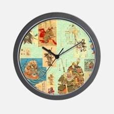 Japanese Samurai Warriors Medley Wall Clock