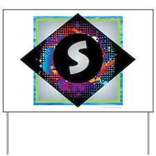 S - Letter S Monogram - Black Diamond S Yard Sign