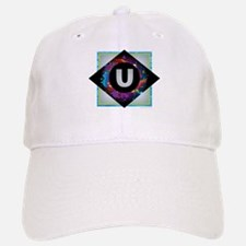 U - Letter U Monogram - Black Diamond U - Lett Baseball Baseball Cap