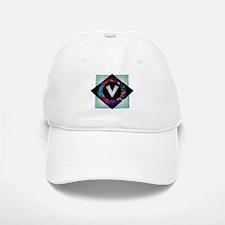 V - Letter V Monogram - Black Diamond V - Lett Baseball Baseball Cap