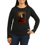 Lincoln's Maltese Women's Long Sleeve Dark T-Shirt
