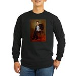 Lincoln's Maltese Long Sleeve Dark T-Shirt