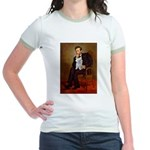 Lincoln's Maltese Jr. Ringer T-Shirt