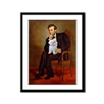 Lincoln's Maltese Framed Panel Print