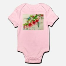 Hummingbirds in Fuschia Garden 2 Body Suit