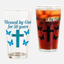 50TH LOVING GOD Drinking Glass