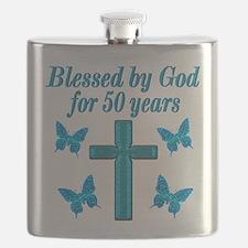 50TH LOVING GOD Flask