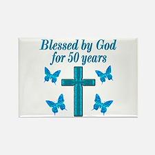 50TH LOVING GOD Rectangle Magnet
