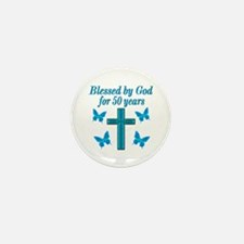 50TH LOVING GOD Mini Button (10 pack)