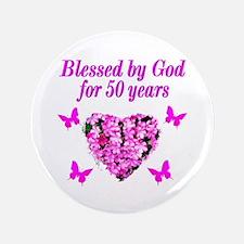 50TH LOVING GOD Button