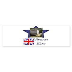 Caravan Cutie Flag Bumper Bumper Sticker