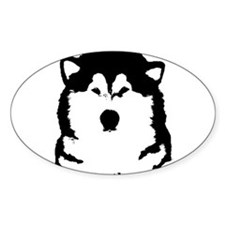 Cute Alaskan malamute Decal