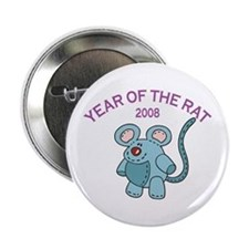 Funny Year of Rat 2008 Button